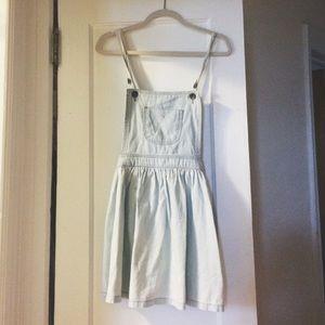 Vintage 90s denim overalls jumper dress